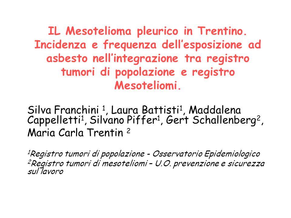 IL Mesotelioma pleurico in Trentino