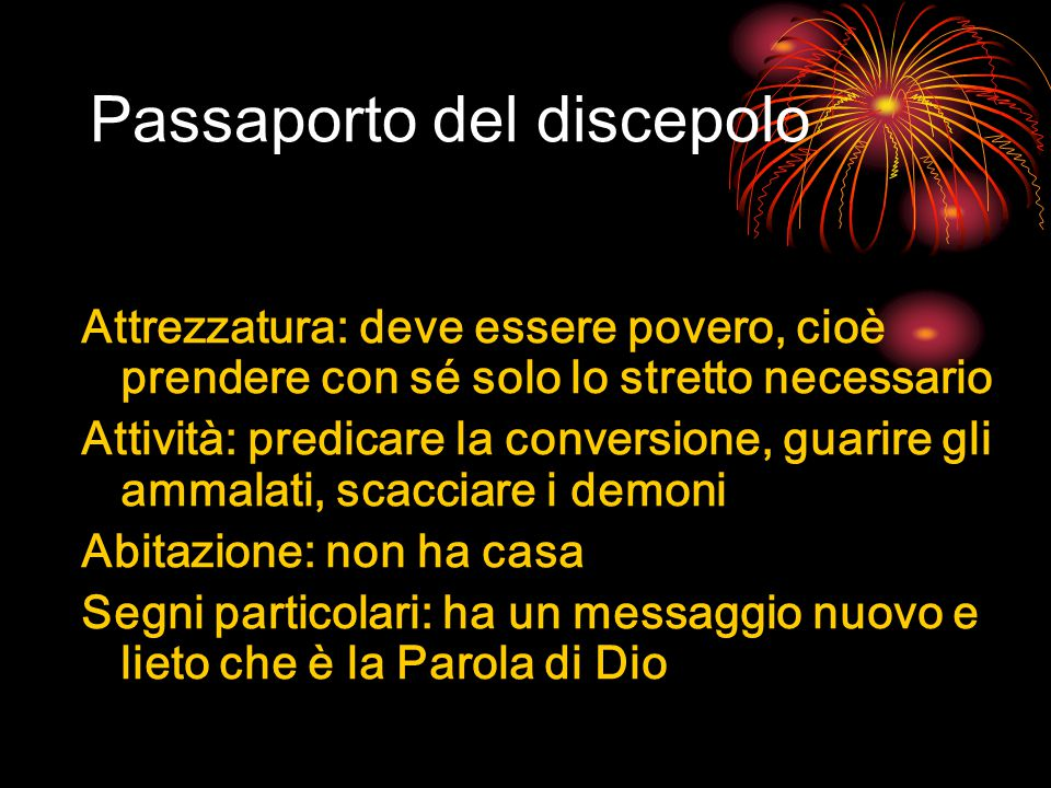 Passaporto del discepolo