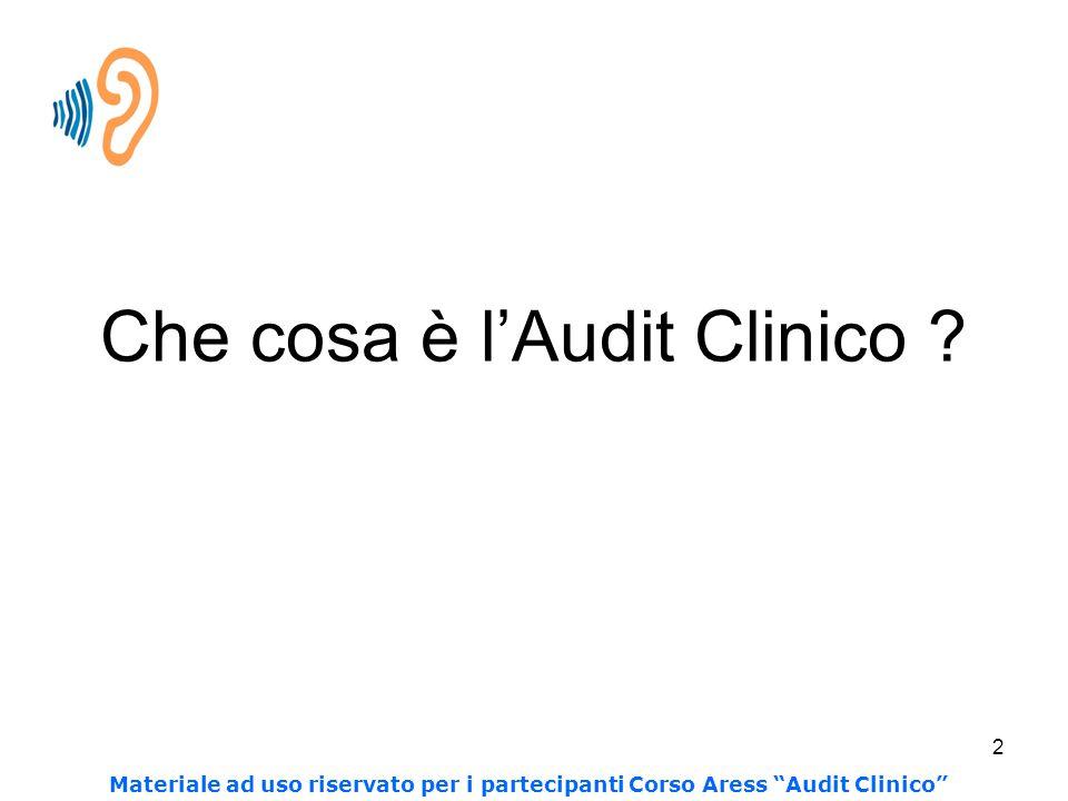 Che cosa è l'Audit Clinico