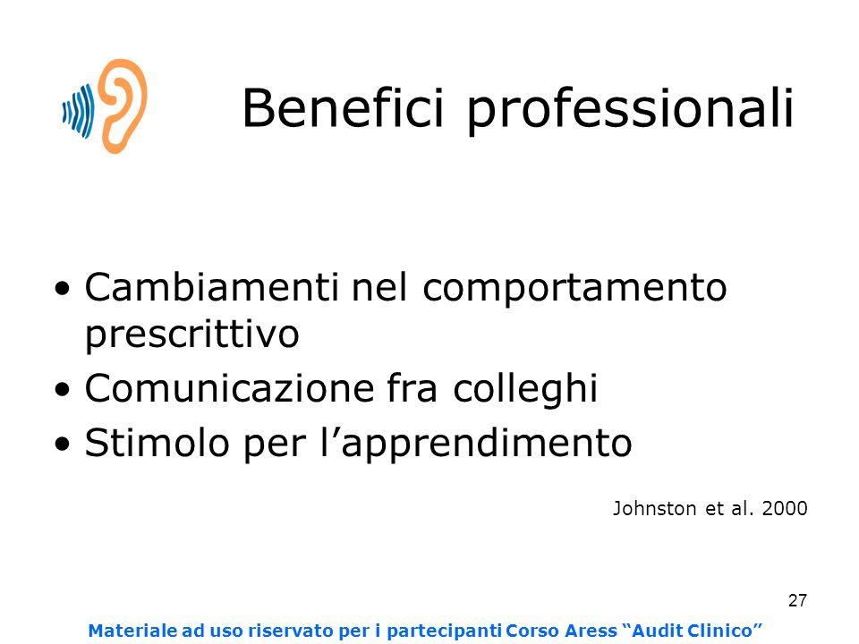 Benefici professionali