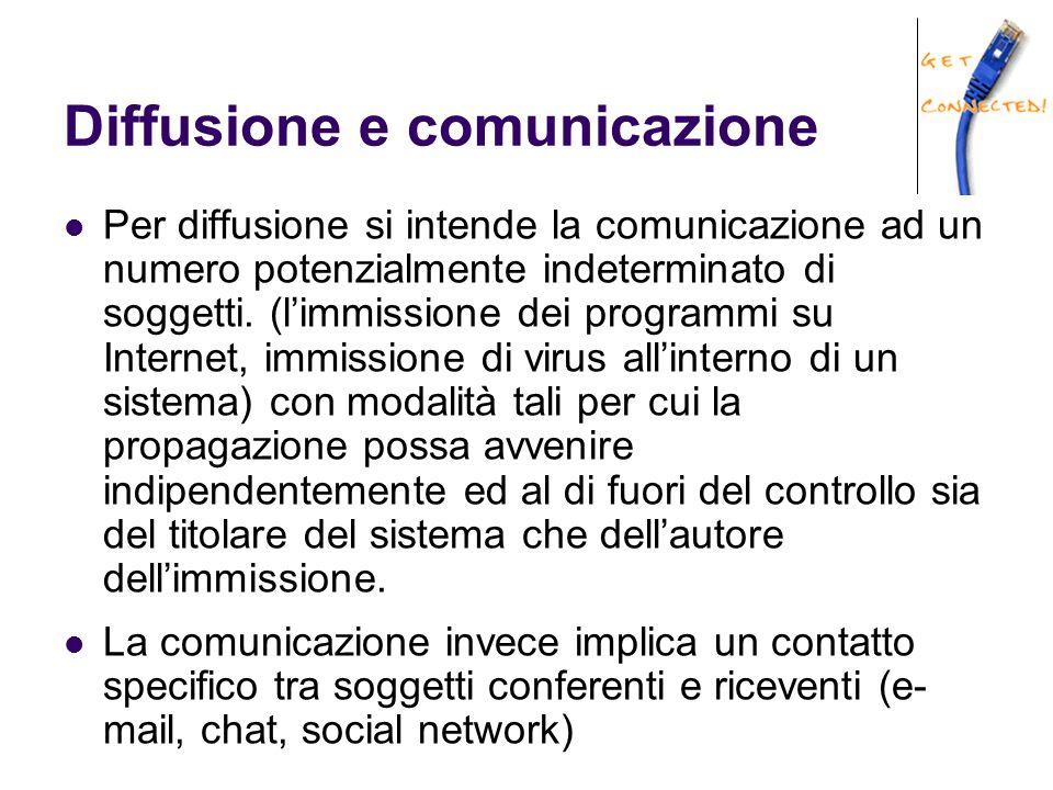 Diffusione e comunicazione