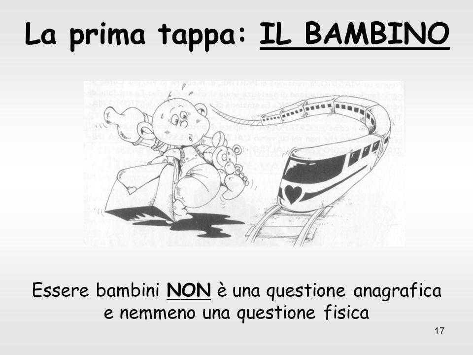 La prima tappa: IL BAMBINO