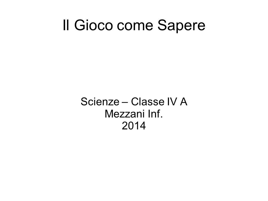 Scienze – Classe IV A Mezzani Inf. 2014