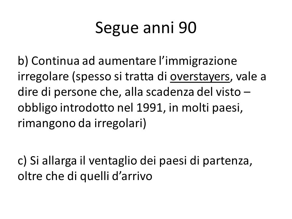 Segue anni 90