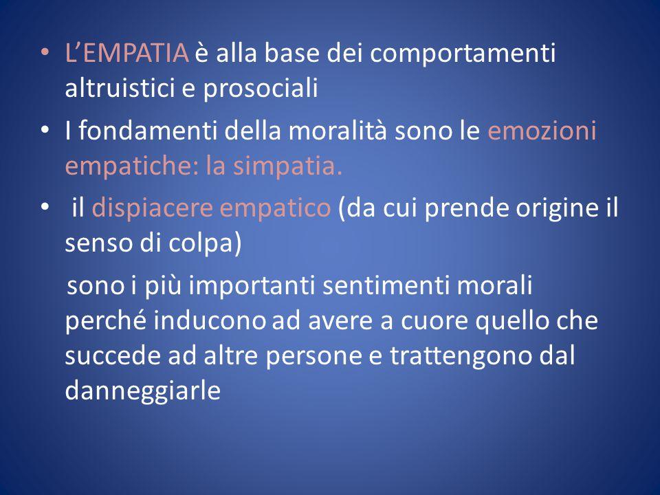 L'EMPATIA è alla base dei comportamenti altruistici e prosociali