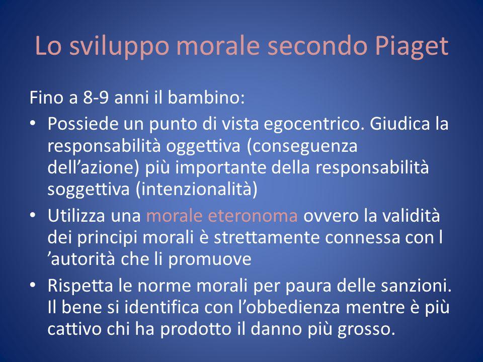 Lo sviluppo morale secondo Piaget