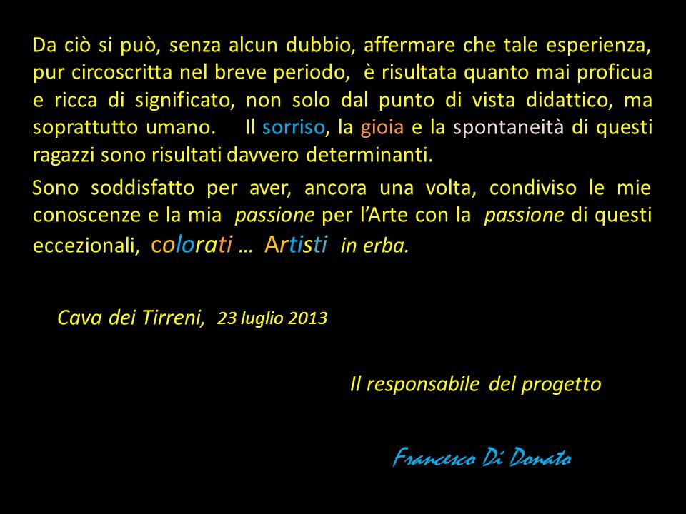 Francesco Di Donato Cava dei Tirreni, 23 luglio 2013