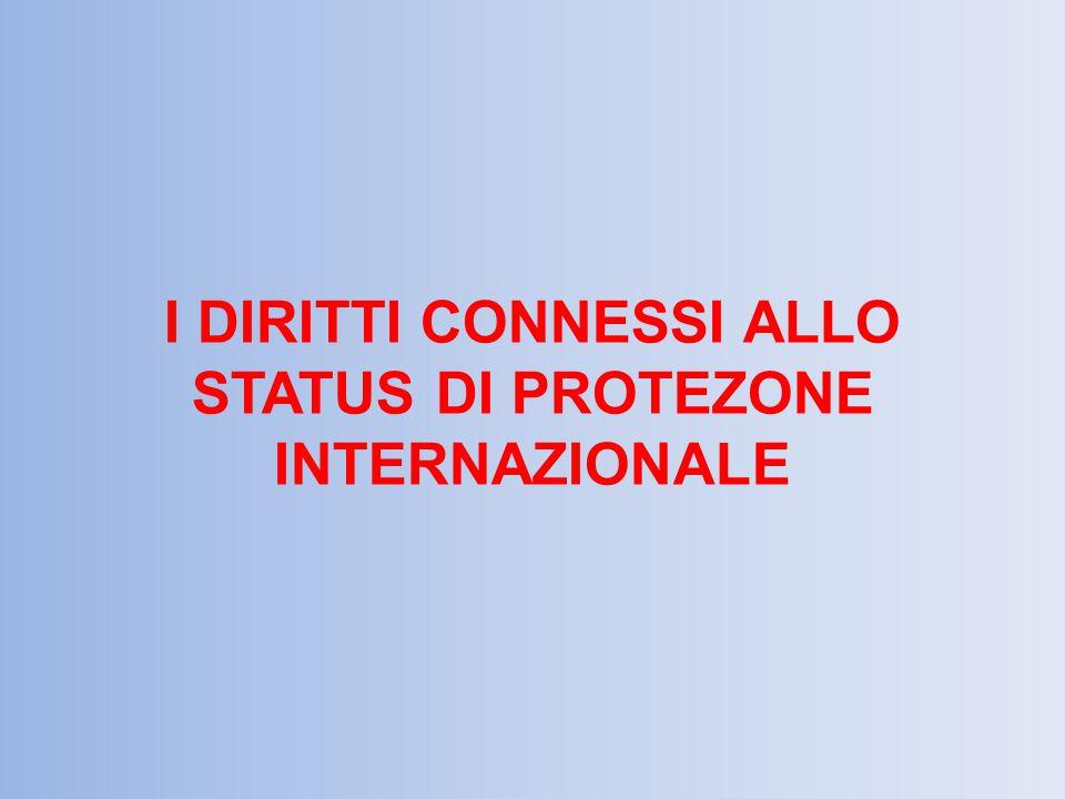 I DIRITTI CONNESSI ALLO STATUS DI PROTEZONE INTERNAZIONALE