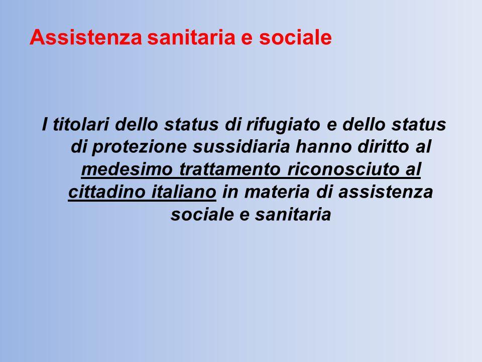 Assistenza sanitaria e sociale