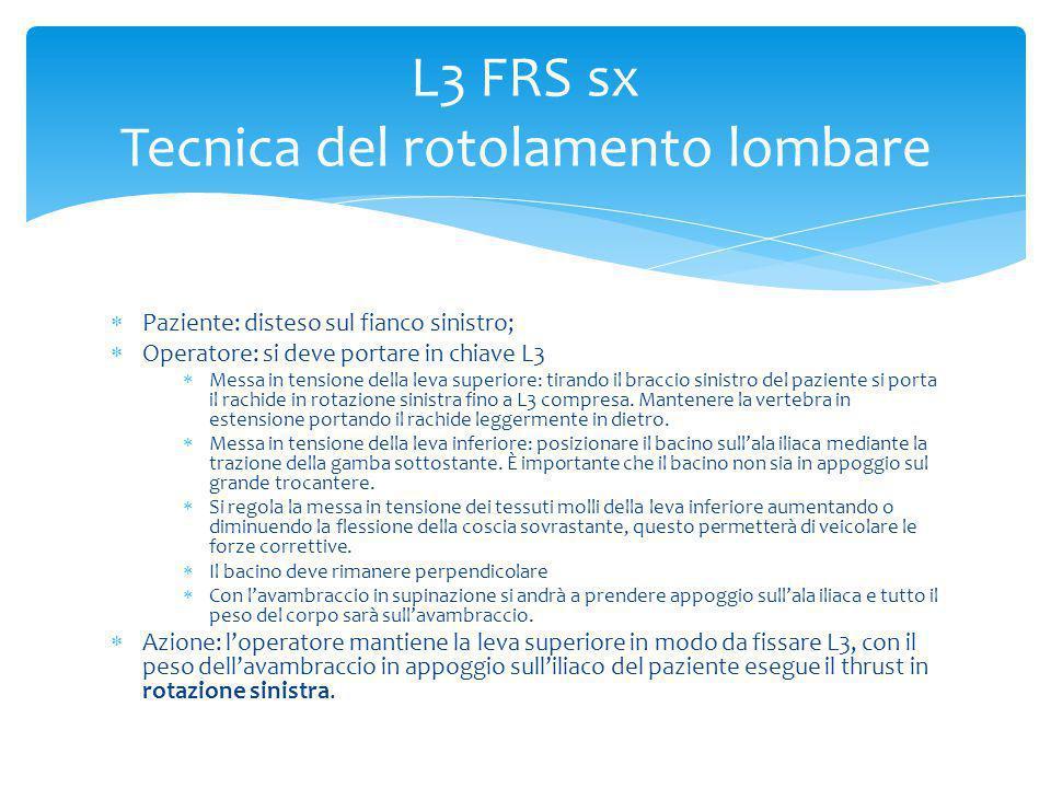 L3 FRS sx Tecnica del rotolamento lombare