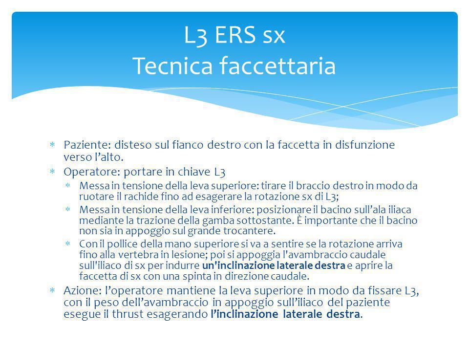 L3 ERS sx Tecnica faccettaria