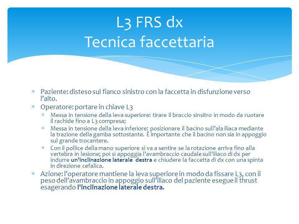 L3 FRS dx Tecnica faccettaria