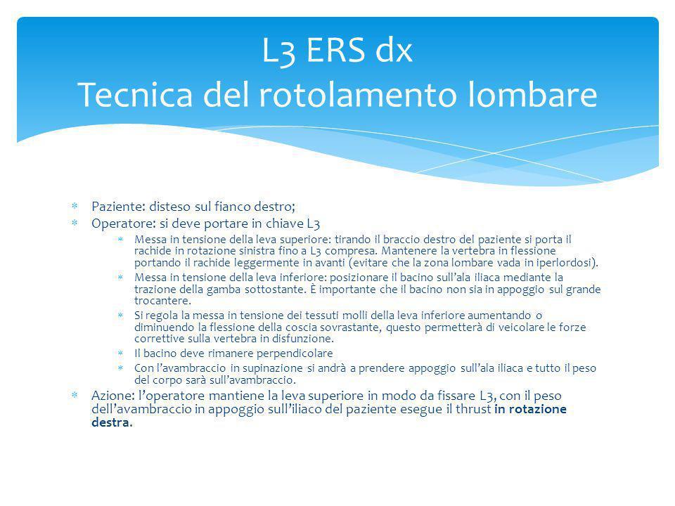 L3 ERS dx Tecnica del rotolamento lombare