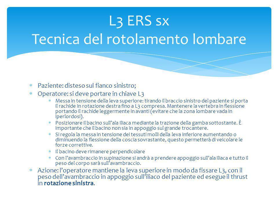 L3 ERS sx Tecnica del rotolamento lombare
