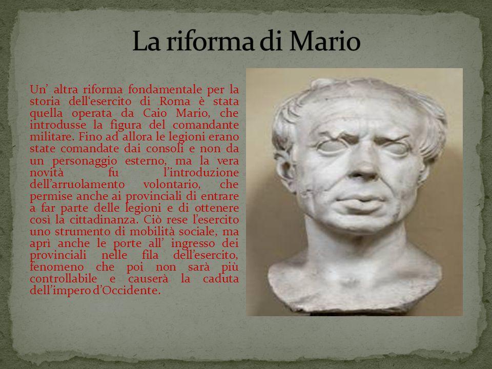 La riforma di Mario