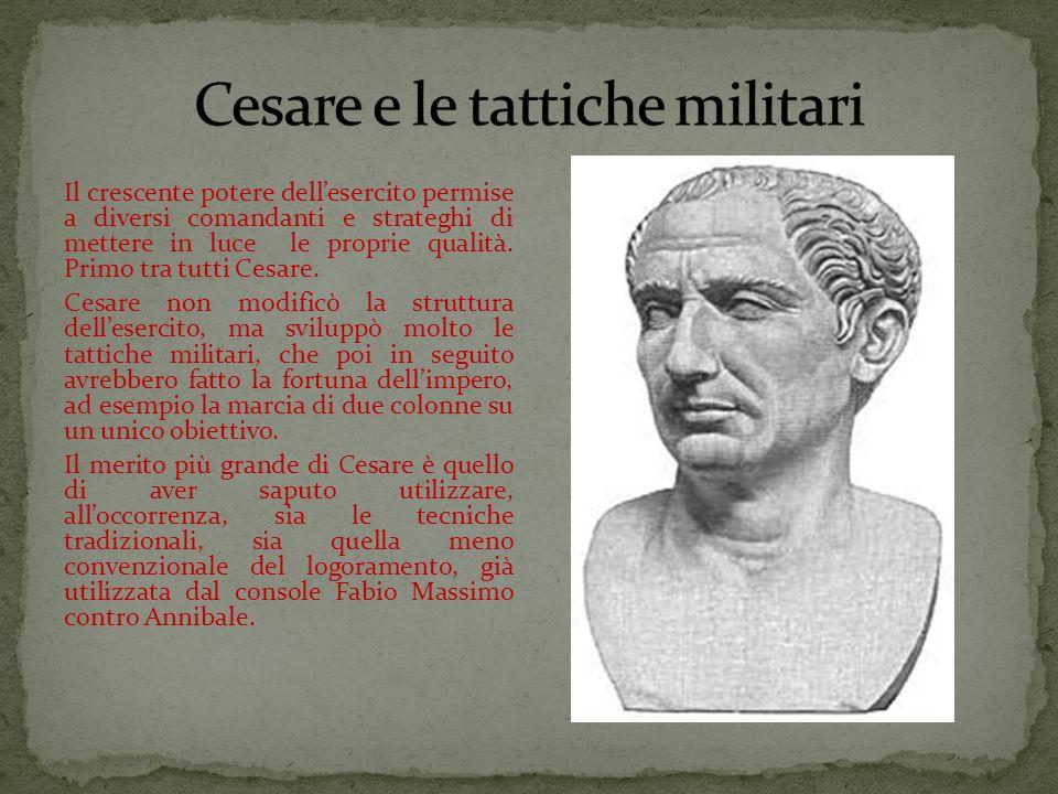 Cesare e le tattiche militari