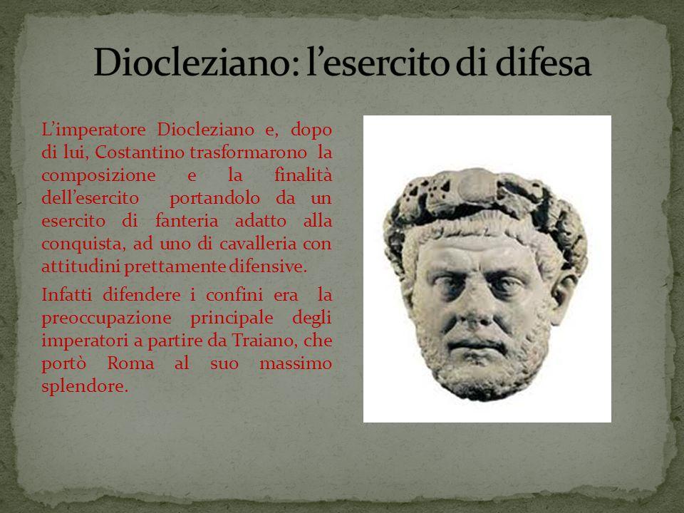 Diocleziano: l'esercito di difesa