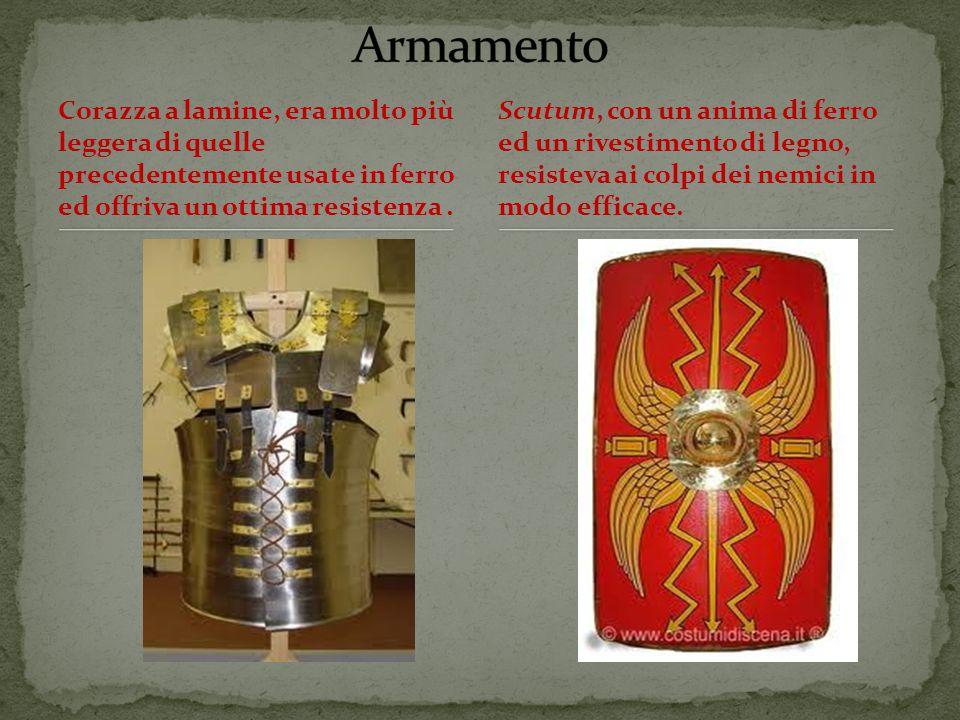 Armamento Corazza a lamine, era molto più leggera di quelle precedentemente usate in ferro ed offriva un ottima resistenza .