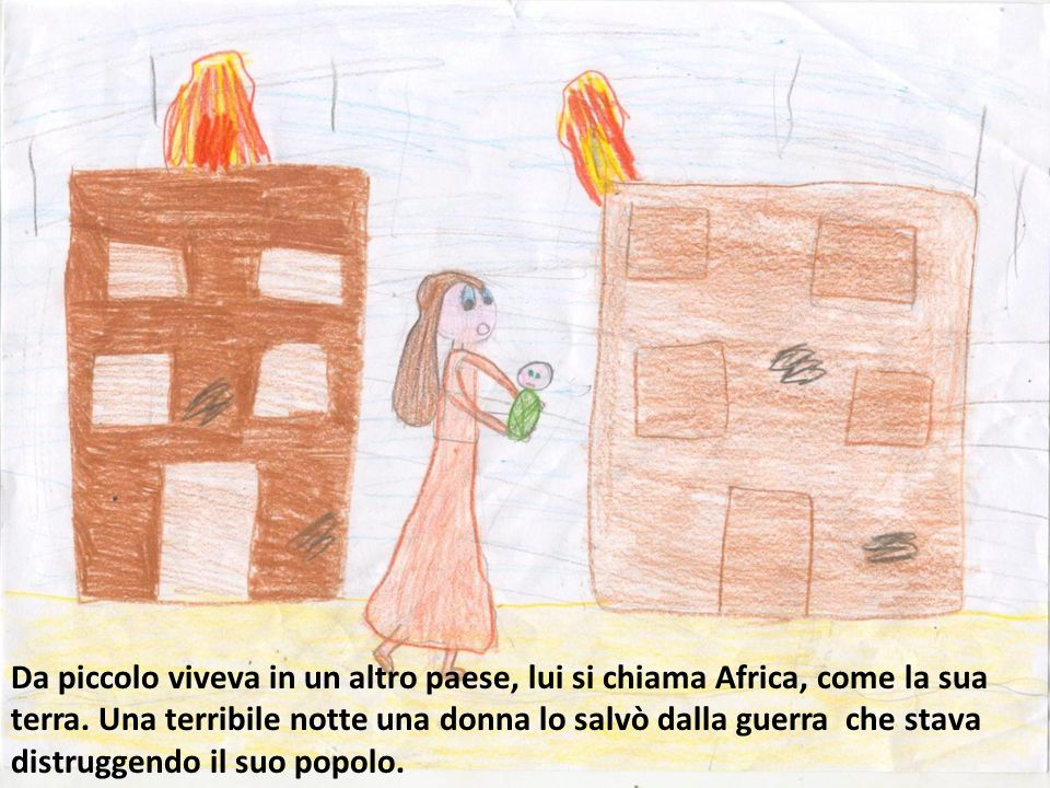 Da piccolo viveva in un altro paese, lui si chiama Africa, come la sua terra.