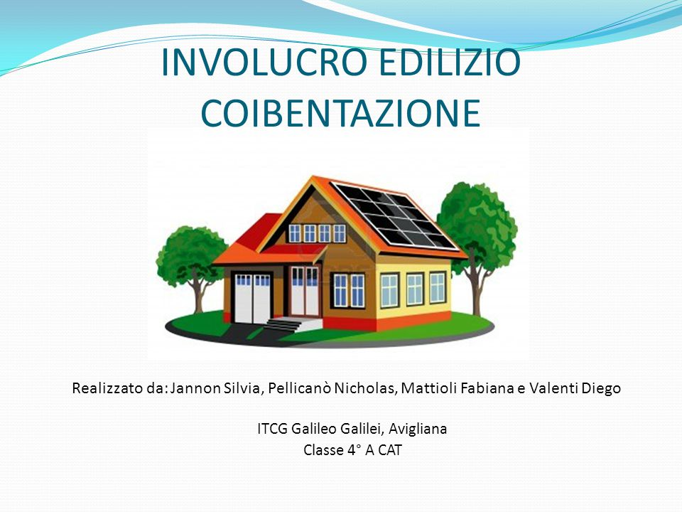 INVOLUCRO EDILIZIO COIBENTAZIONE