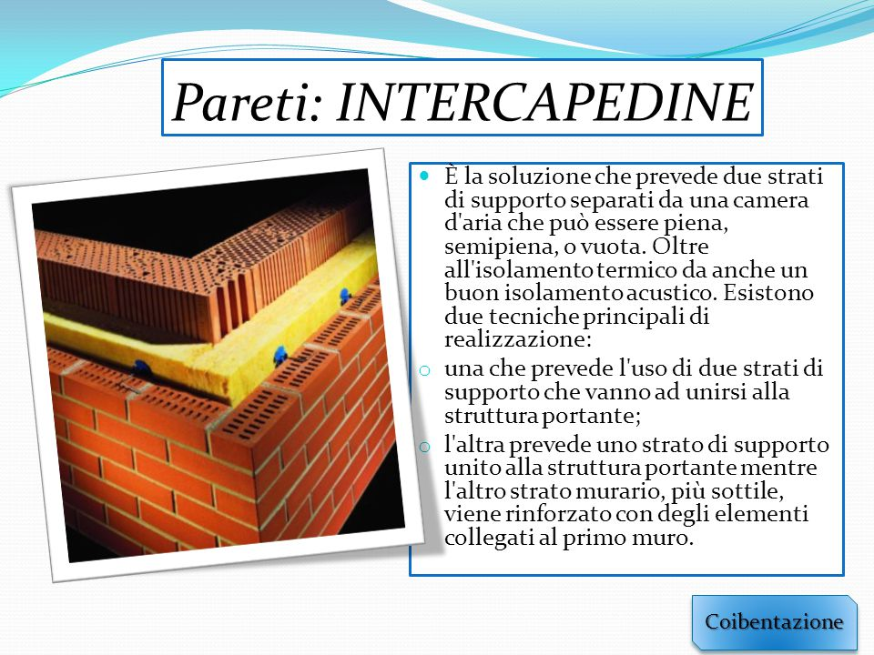Pareti: INTERCAPEDINE