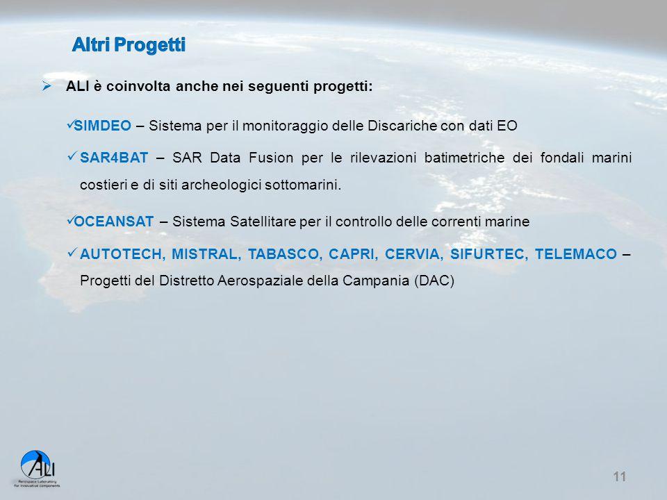 Altri Progetti ALI è coinvolta anche nei seguenti progetti: