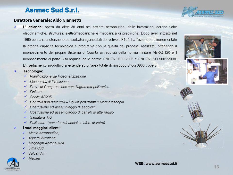 Aermec Sud S.r.l. Direttore Generale: Aldo Giannetti