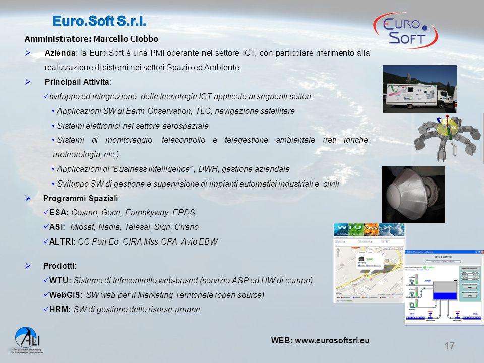 Euro.Soft S.r.l. Amministratore: Marcello Ciobbo