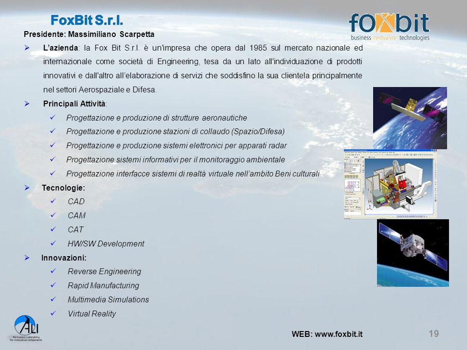 FoxBit S.r.l. Presidente: Massimiliano Scarpetta