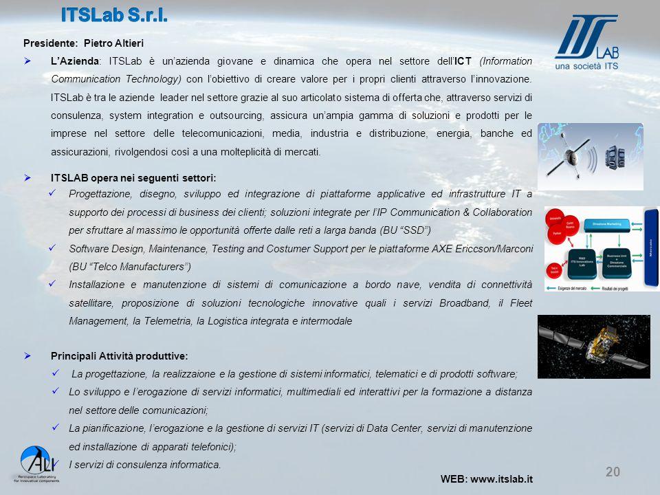ITSLab S.r.l. Presidente: Pietro Altieri