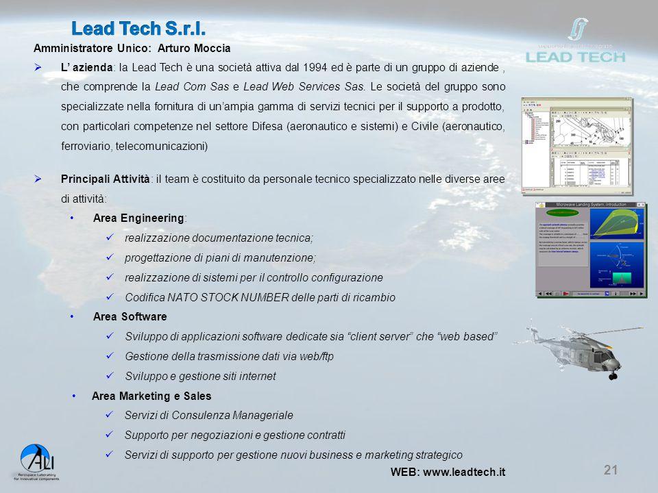 Lead Tech S.r.l. Amministratore Unico: Arturo Moccia