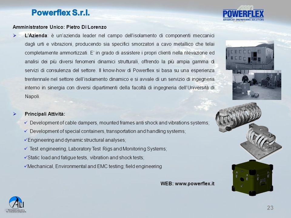 Powerflex S.r.l. Amministratore Unico: Pietro Di Lorenzo