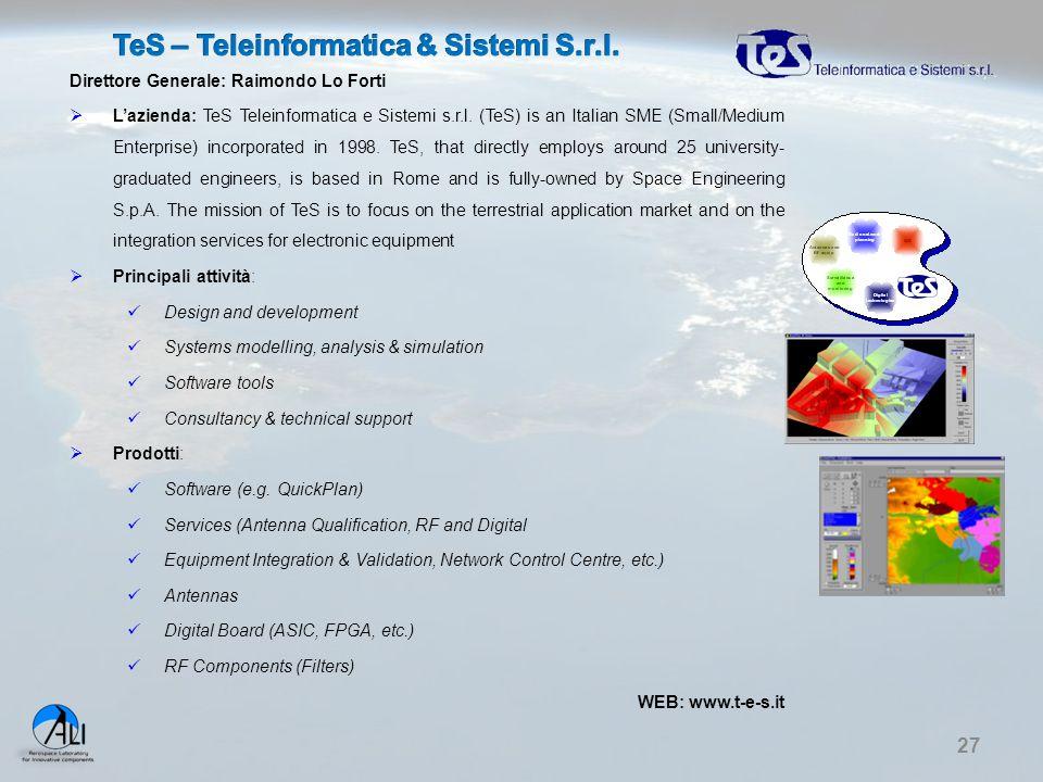 TeS – Teleinformatica & Sistemi S.r.l.