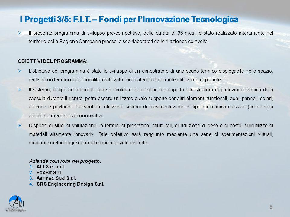 I Progetti 3/5: F.I.T. – Fondi per l'Innovazione Tecnologica