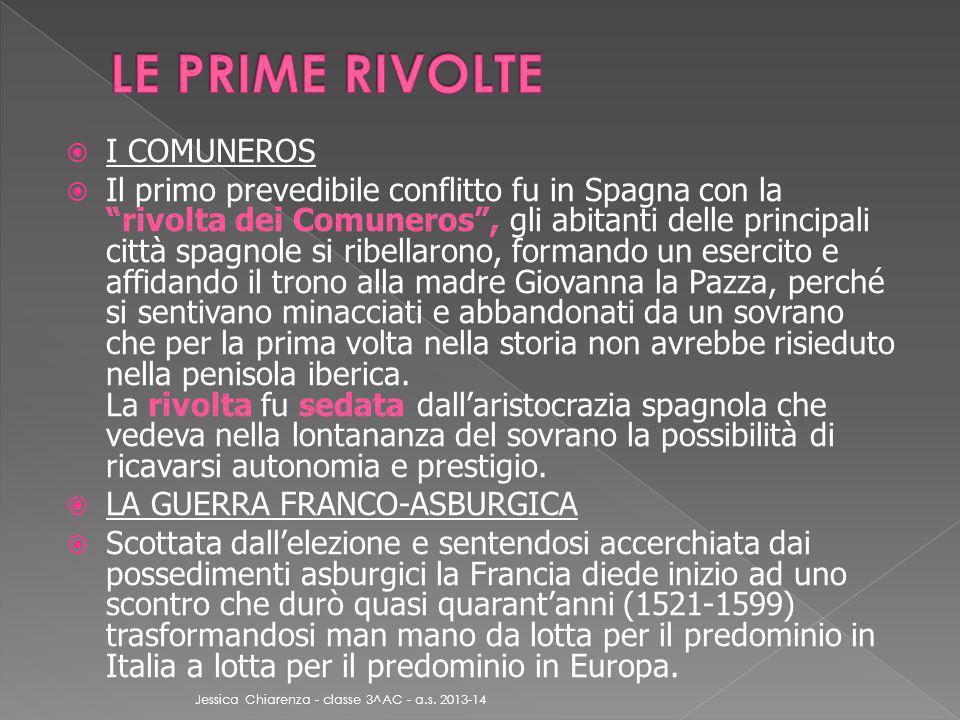 LE PRIME RIVOLTE I COMUNEROS