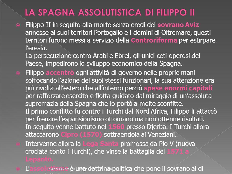 LA SPAGNA ASSOLUTISTICA DI FILIPPO II