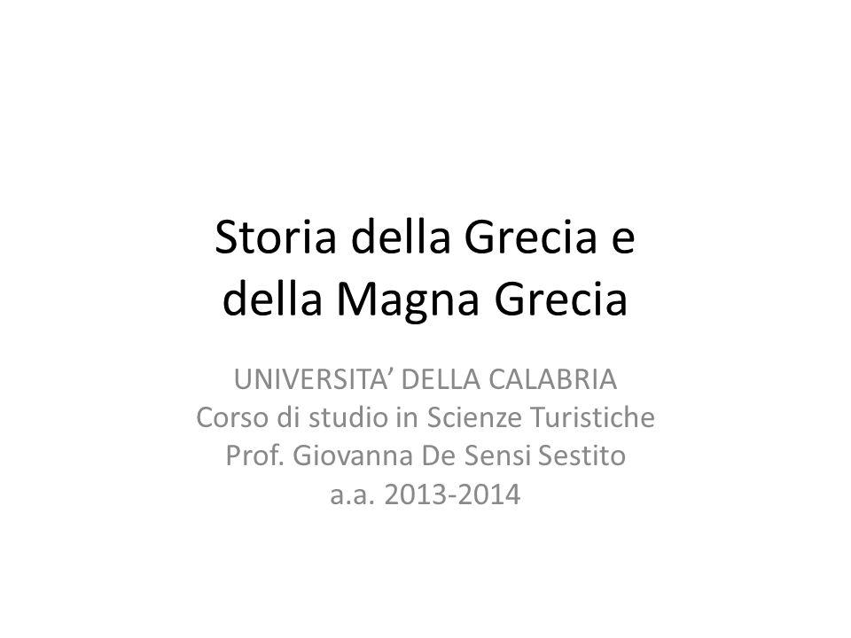 Storia della Grecia e della Magna Grecia