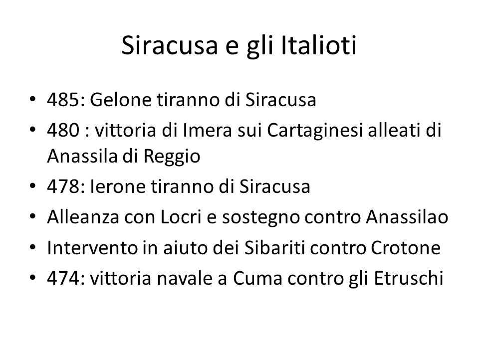 Siracusa e gli Italioti