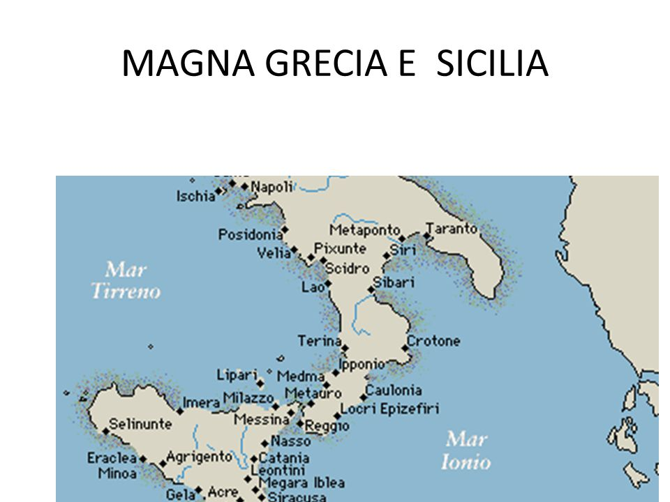 MAGNA GRECIA E SICILIA