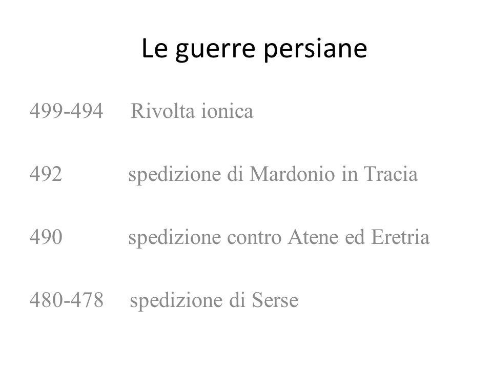 Le guerre persiane 499-494 Rivolta ionica