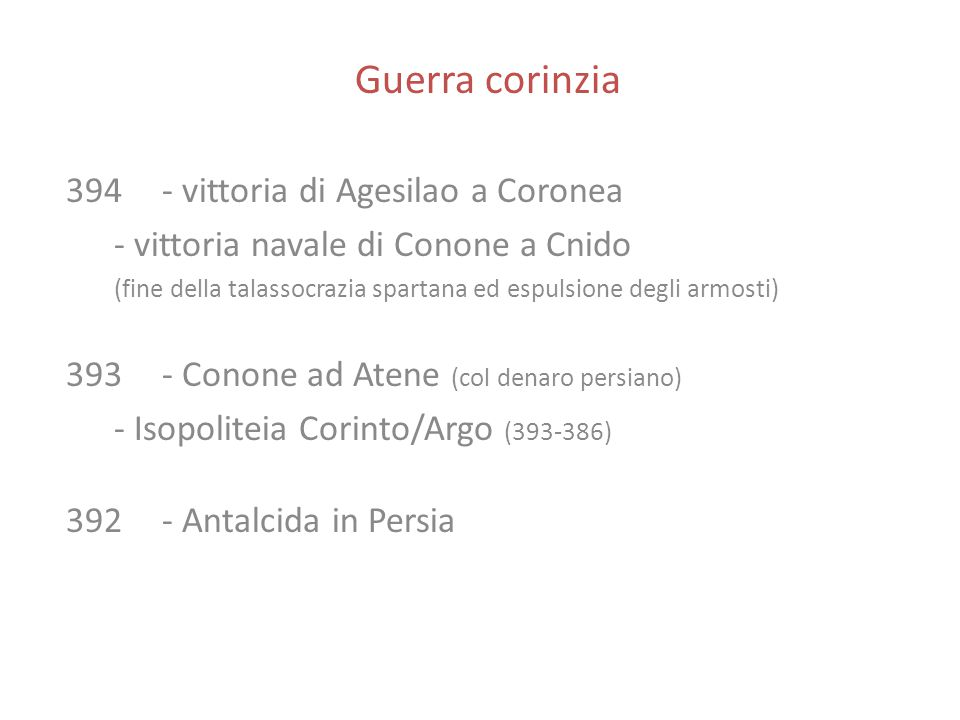 Guerra corinzia 394 - vittoria di Agesilao a Coronea