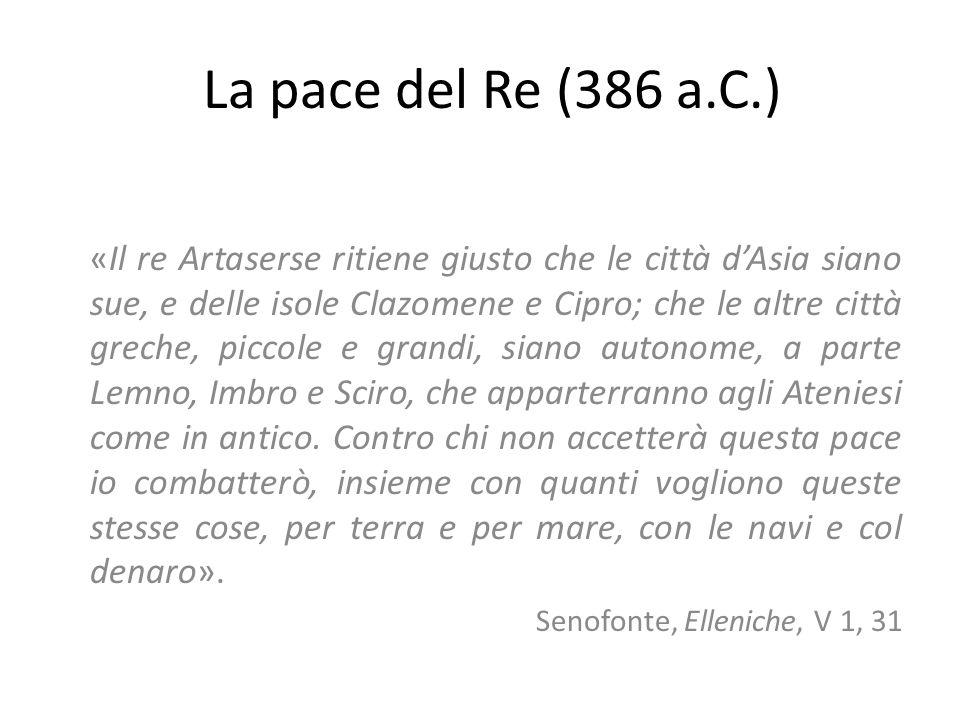 La pace del Re (386 a.C.)