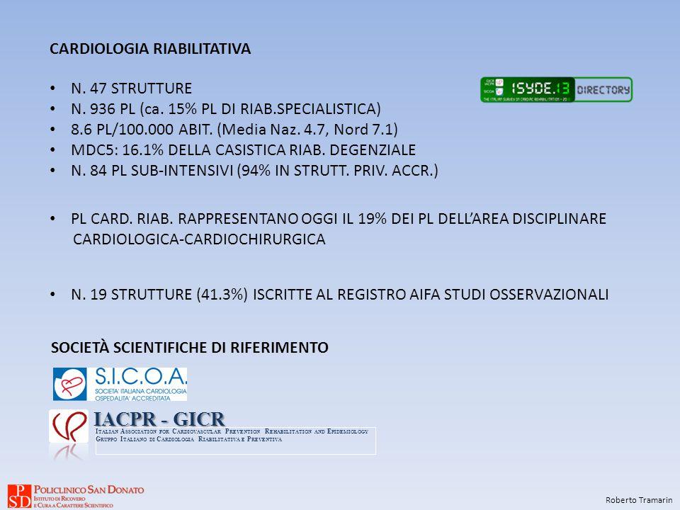 IACPR - GICR CARDIOLOGIA RIABILITATIVA N. 47 STRUTTURE