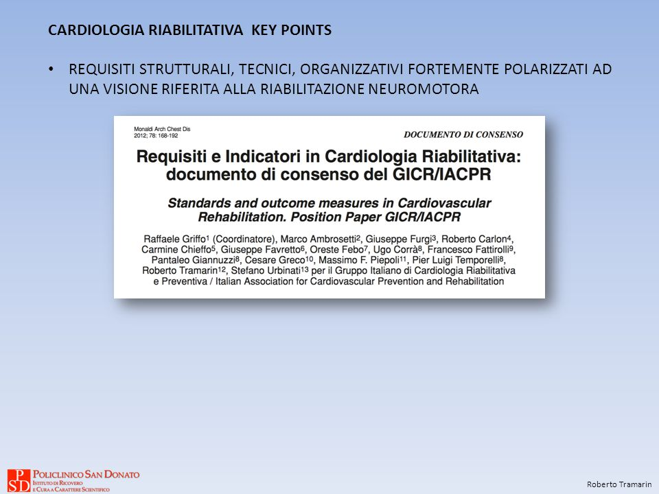 CARDIOLOGIA RIABILITATIVA KEY POINTS