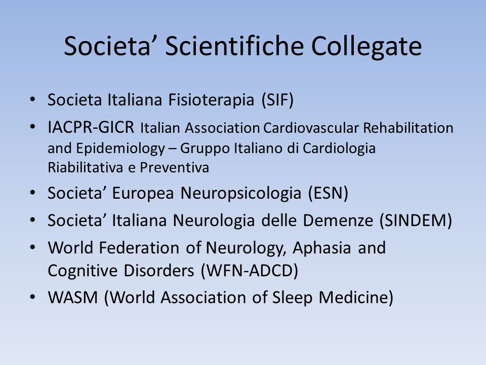 Societa' Scientifiche Collegate