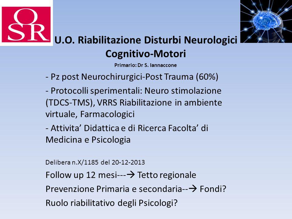 U.O. Riabilitazione Disturbi Neurologici Cognitivo-Motori