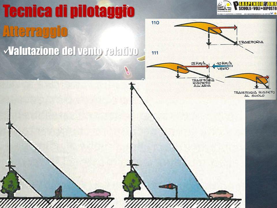 Tecnica di pilotaggio Atterraggio Valutazione del vento relativo