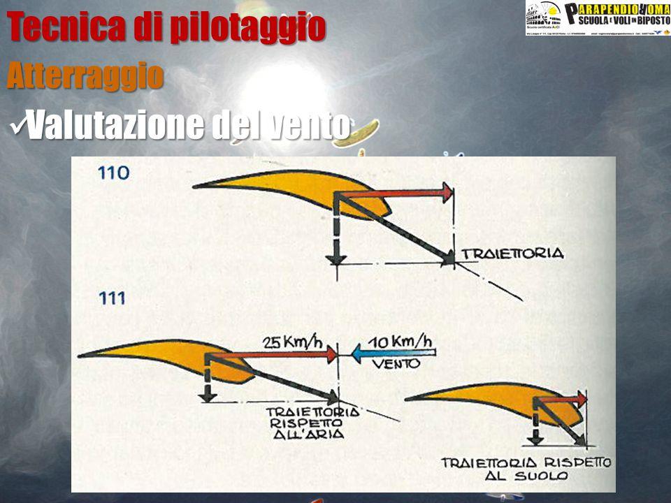 Tecnica di pilotaggio Atterraggio Valutazione del vento