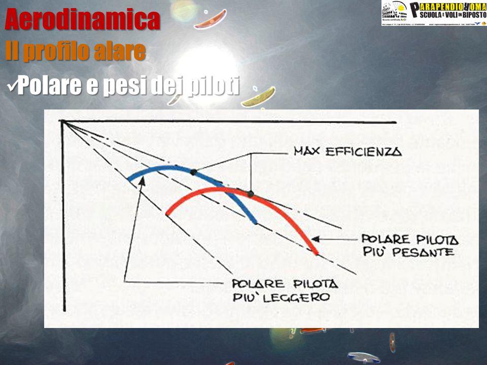 Aerodinamica Il profilo alare Polare e pesi dei piloti