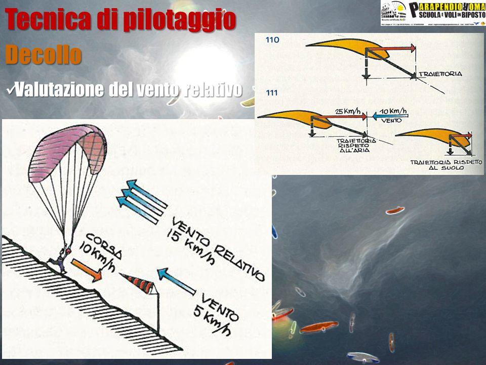 Tecnica di pilotaggio Decollo Valutazione del vento relativo Pendenza